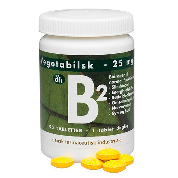 B2 vitamin vegetabilsk 25 mg