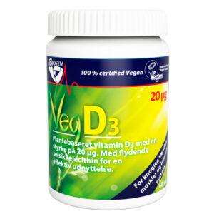 Vegansk D-vitamin, 20 mikrogram